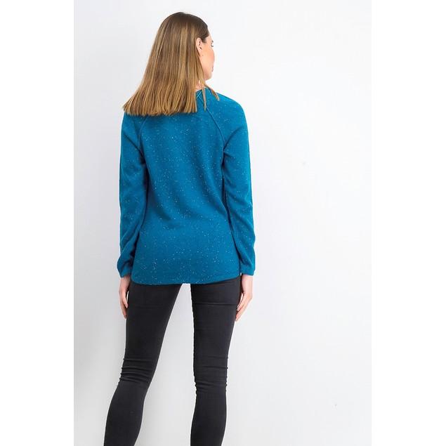 Karen Scott Women's Curved-Hem Sweater Navy Size Medium