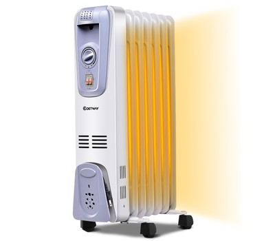 1500-Watt Electric Oil Filled Radiator Space Heater 7-Fin Thermostat Was: $99.99 Now: $59.99.