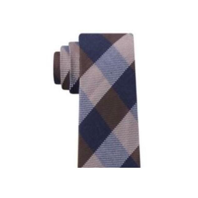 Tommy Hilfiger Men's Slim Textured Check Tie Red Size Regular