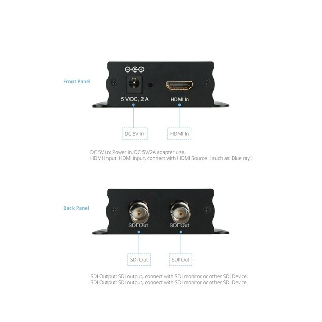 66002 XtremPro HDMI to SDI Converter w/ 2 Outputs Support 720p /1080p