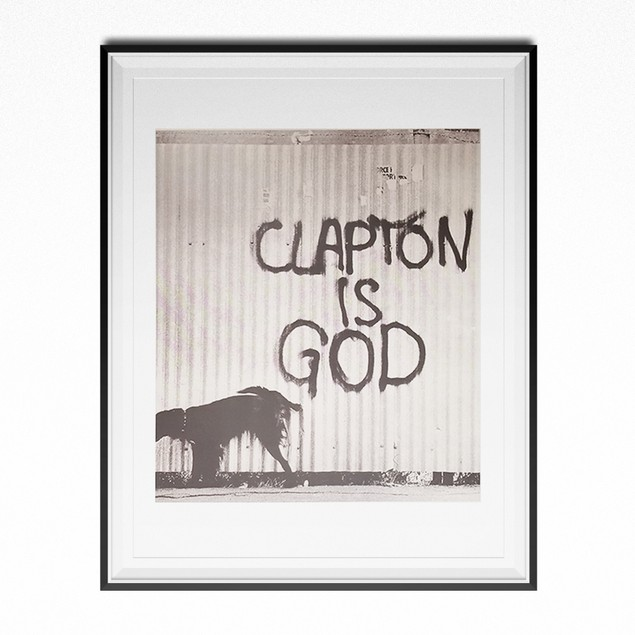 Clapton Is God Photo Poster 8.5 x 11