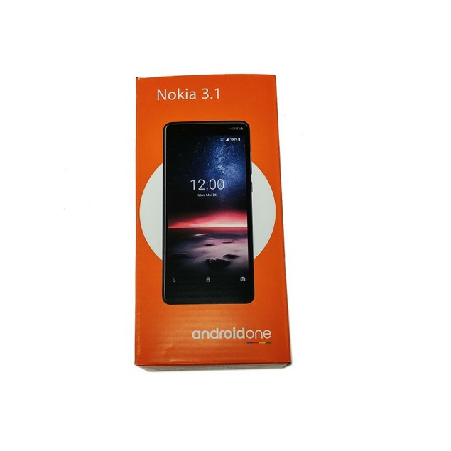 Nokia 3.1A 32GB TA-1140 GSM Unlocked Android One Smartphone - Black