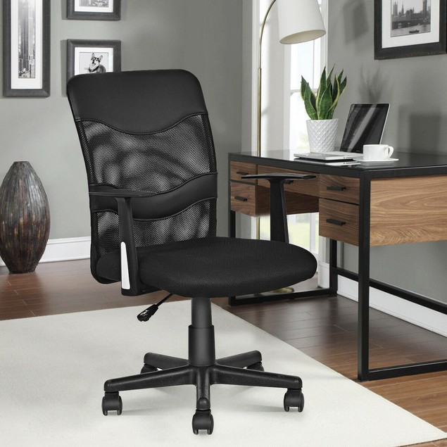 Costway Modern Mesh Mid-Back Executive Computer Desk Task Office Chair Ergo