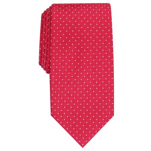 Perry Ellis Men's Kimball Micro-Dot Tie Red Size Regular