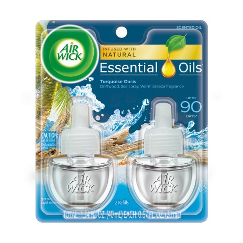 Air Wick Plug in Refill w/ 5x Fragnance, Turquoise Oasis Oil Air Freshener,