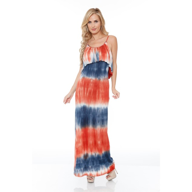 Kalea Tie Dye Overlay Maxi Dress - 6 Colors