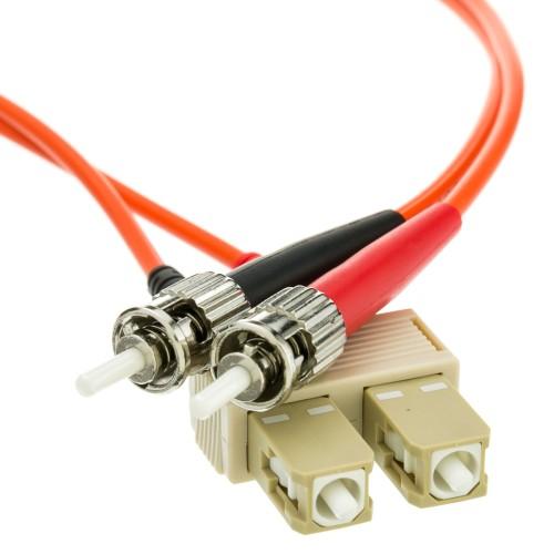Fiber Optic Cable, SC / ST, Multimode, Duplex, 62.5/125, 1 meter (3.3 foot)