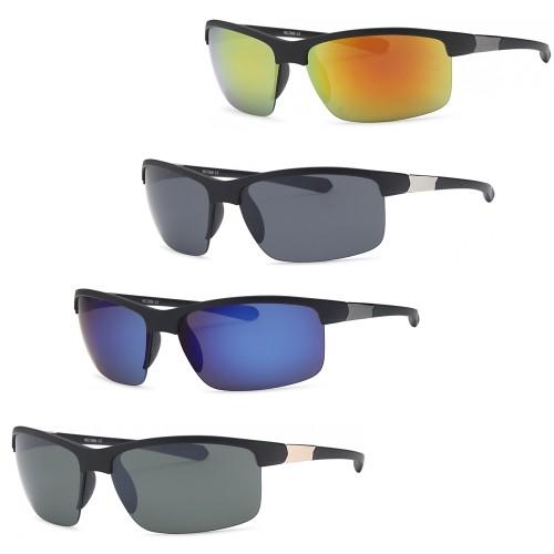 4-Pack Wrap Around Men Sunglasses