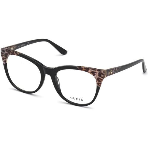 Guess Women Eyeglasses GU2819V 001 Black 55 19 140 Frames Cat Eye