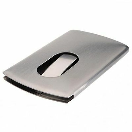 Stainless Steel Modern Thumb Slide Out Pocket Business Credit Card Hol
