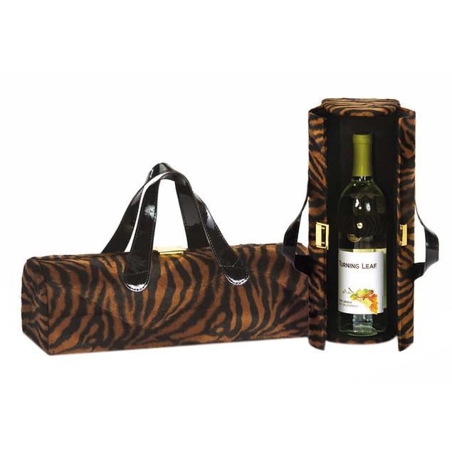 Picnic Plus Carlotta Clutch Wine Bottle Clutch Brown Tiger