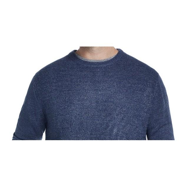 Weatherproof Vintage Men's Waffle Knit Sweater Med Blue Size Medium