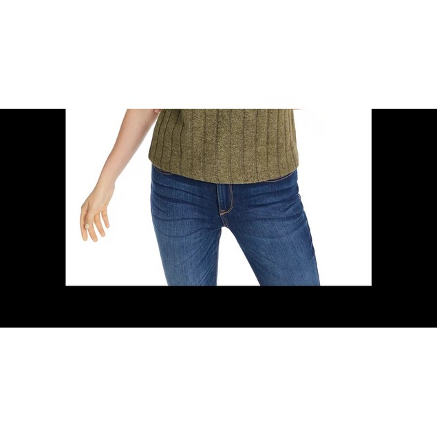 Crave Fame Junior's Cozy Ribbed Top Green Size X-Small