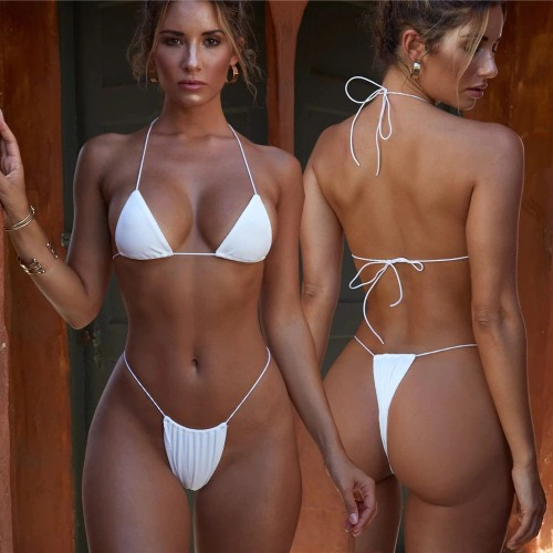 Lace Bikini Split Lady Swimwear