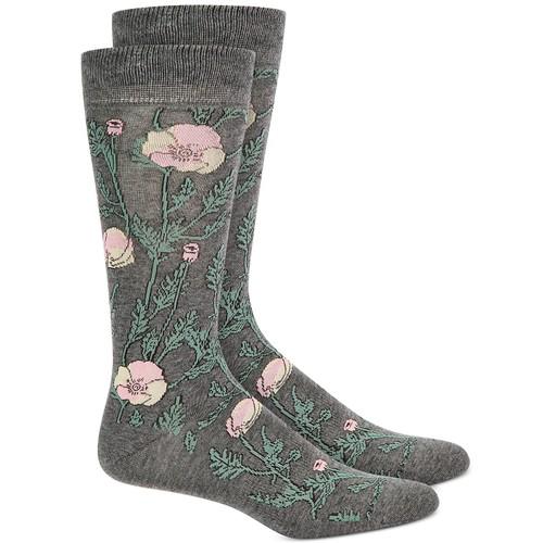 Bar III Men's Poppy Socks Gray Size Regular