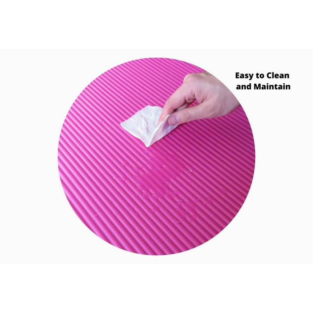 """0.3"""" Thick Yoga and Pilates Exercise Mat with Carrying Strap   High-Density Anti-Tear"""