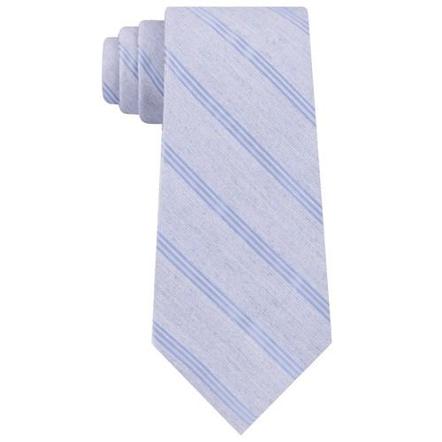 Calvin Klein Men's Stripe Slim Tie Navy Size Regular