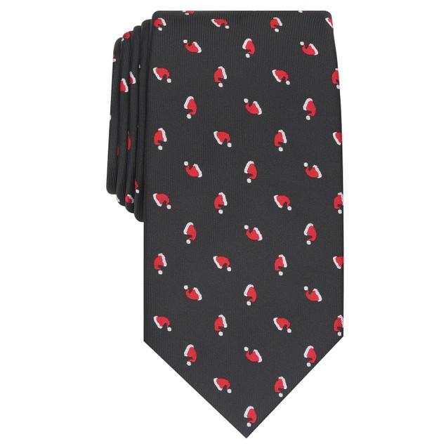 Club Room Men's Classic Santa Hat Neat Tie Black Size Regular