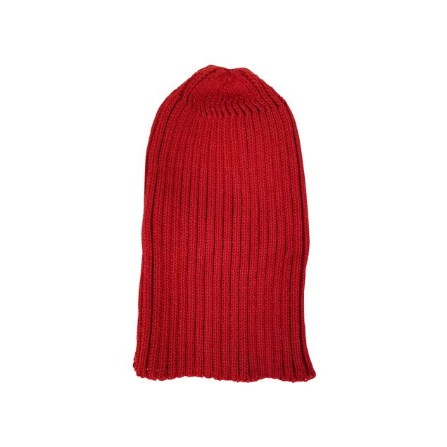 Red Knit Slouch Hat