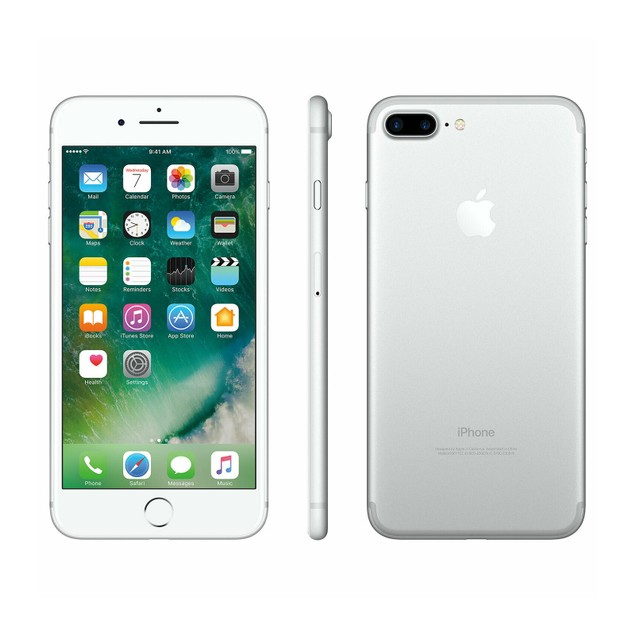 Apple iPhone 7 Plus 128GB Factory GSM Unlocked T-Mobile AT&T 4G LTE Silver - Grade B