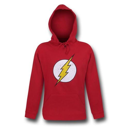 Flash Distressed Symbol Red Hoodie