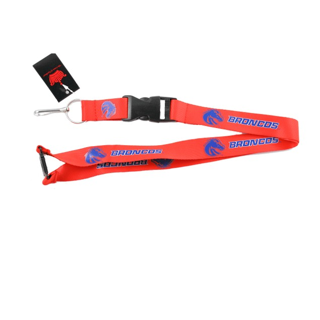 Boise State Broncos Clip Lanyard Keychain Id Holder Orange