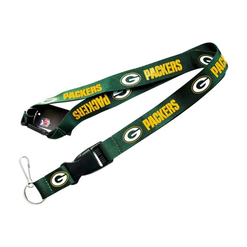 NFL Lanyard Keychain Batch Id Holder Green Bay Packers - Green