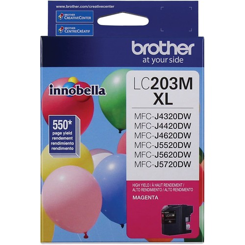 Brothers Brother Printer LC203M High Yield Ink Cartridge, Magenta