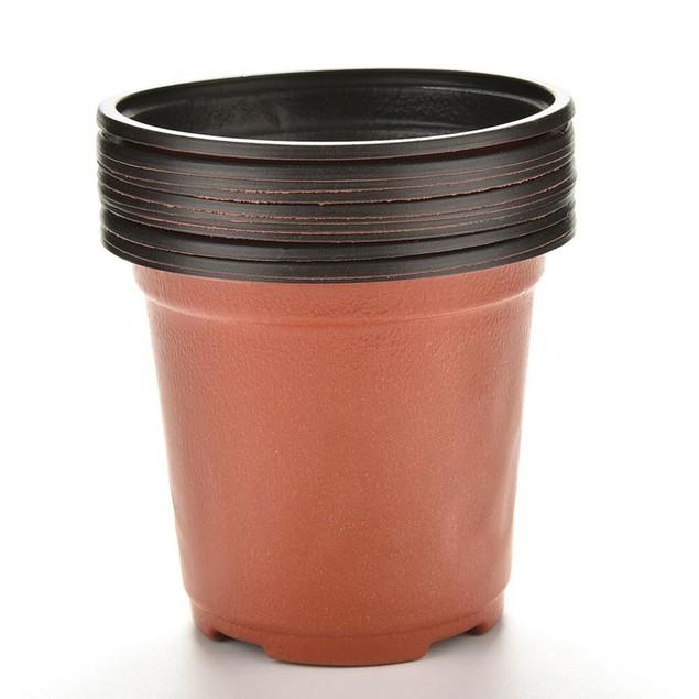10 Pcs Small Round Flower Pot Terracotta Nursery Planter Home Decor