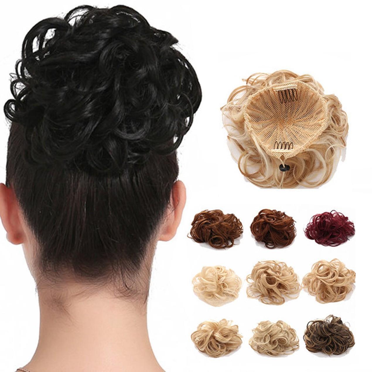 Onedor Synthetic Clip Onin Messy Hair Bun Extension Tanga