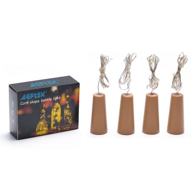 Cork shape light Bottle Mini String Lighting 4PCS set RGB multi-color