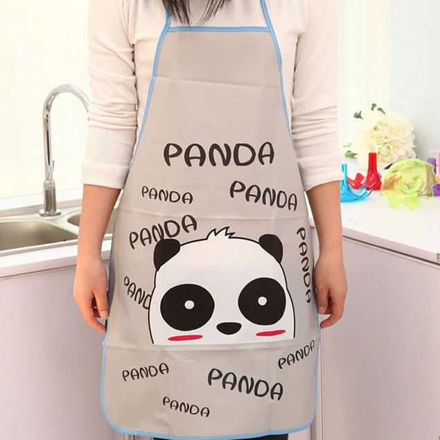 1PC Kitchen Cartoon Waterproof Cooking Bib Apron For Women