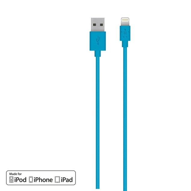 2-Pack: Belkin Apple Certified MIXIT 4-Foot Flat Lightning to USB Cable