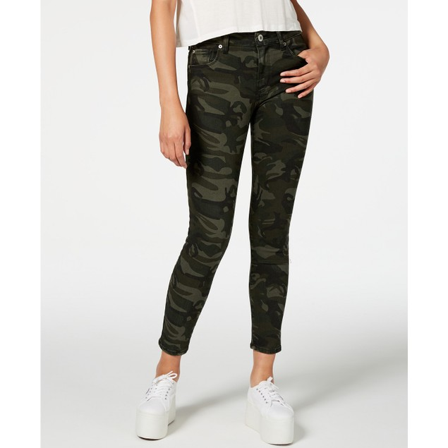 Sts Blue Women's Ellie Camouflage-Print Ankle Skinny Jeans Green Size 27