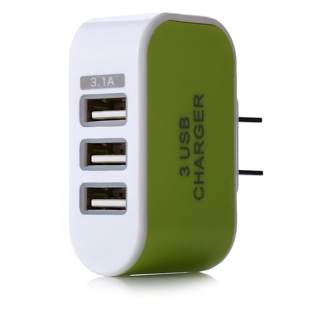 3-Port Universal USB Wall Charger