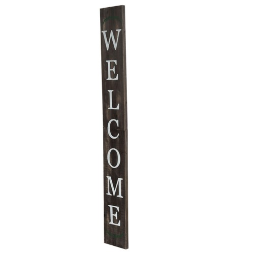 """72"""" Wood Welcome Porch Sign - Brown"""