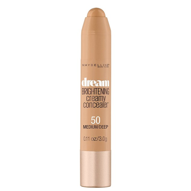 Maybelline New York Dream Brightening Creamy Concealer, Medium Deep, 0.11