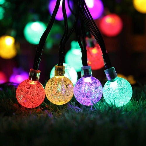 20ft 30 LEDs Solar String Ball Lights Outdoor Garden Lamp Party Decor