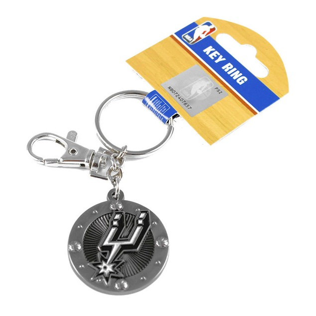 San Antonio Spurs NBA Impact Metal Key Ring Keychain