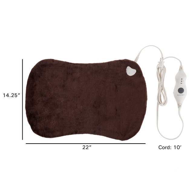 Electric Heating Pad for Full Body with 3 Settings, Auto Shut Off (Brown)