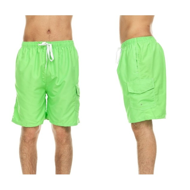 Men's Solid Quick Dry Swim Shorts with Cargo Pocket