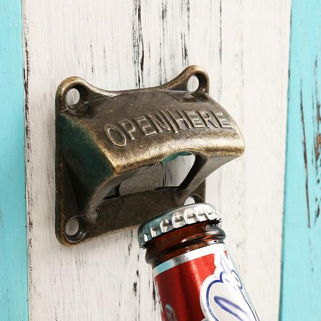 Vintage Bronze Wall Mounted Beer Bottle Opener