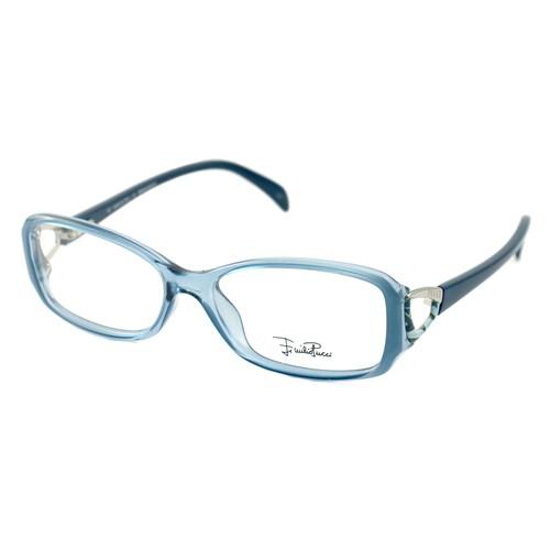 Emilio Pucci Women Eyeglasses EP2675 462 Clear Blue 53 15 120 Full Rim Rectangle