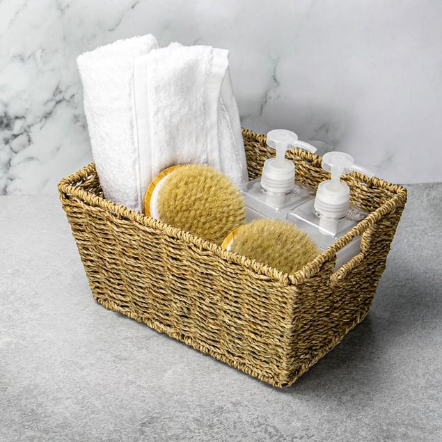 Natural Seagrass Storage Basket   MandW Set of 1