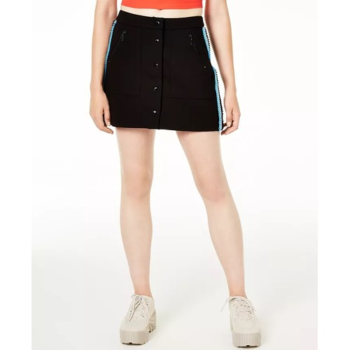 Juicy Couture Women's Ponte-Knit Button-Up Skirt Black Size 14