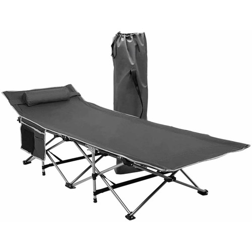 Zone Tech Outdoor Travel Cot Gray