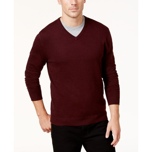 Alfani Mens Knit Pullover Sweater Red Size Small