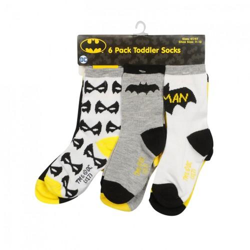 6-Pack Batman Toddler Socks