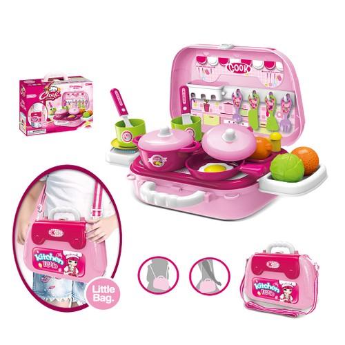 Kitchen Little Kitchenware Shoulder Bag Kids Mini Playset Dollhouse Children Toy