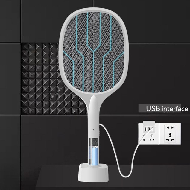Two-in-one Electric Mosquito Swatter, Photocatalyst, Usb Mosquito Killer, Rechargeable